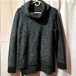 The Limited green metallic cowl neck sweater